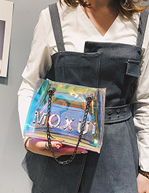 Fashion Multi-color Letter Pattern Decorated Bag