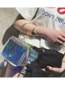 Fashion Transparent Round Shape Decorated Bag
