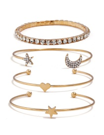 Fashion Gold Color Moom&star Shape Decorated Bracelet