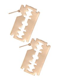 Fashion Gold Color Hollow Out Design Square Earrings