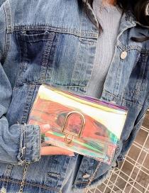 Fashion Transparent Square Shape Design Bag