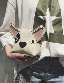 Fashion Beige Dog Shape Design Bag