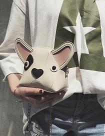 Fashion Beige Dog Shape Design Bag