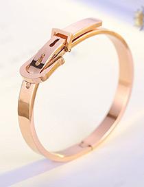 fashion Rose Gold Buckle Shape Decorated Bracelet For Women