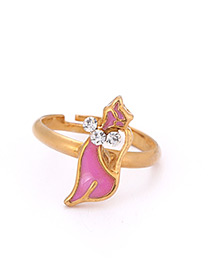 Fashion Gold Color Cat Shape Decorated Ring