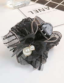 Fashion Black Bowknot Shape Decorated Hair Clip