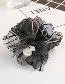 Fashion Black Bowknot Shape Decorated Hair Clip