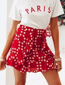 Fashion Red Dots Pattern Decorated Skirt