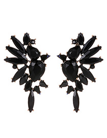 Fashion Black Wing Shape Decorated Earrings