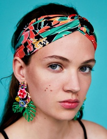 Fashion Multi-color Flowers Pattern Decorated Hair Band