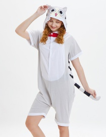 Lovely Gray Cat Pattern Decorated One-piece Pajamas(for Child)