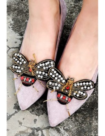 Fashion Gold Color Bee Shape Decorated Shoes Accessories(1pc)