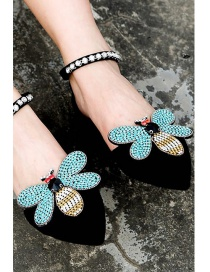 Fashion Blue Bee Shape Decorated Shoes Accessories (1pc)