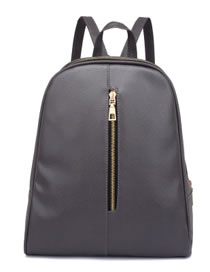 Fashion Dark Gray Pure Color Decorated High-capacity Backpack