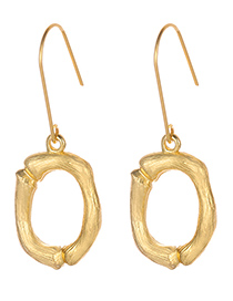Fashion Gold Color Letter O Decorated Pure Color Earrings
