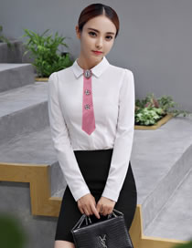 Fashion Pink Flower Decorated Pure Color False Collar