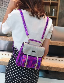Fashion Purple Sequins Pattern Decorated High-capacity Bag