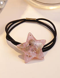 Fashion Pink Star Shape Decorated Hair Band