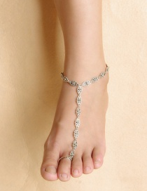 Trendy Gold Color Pure Color Design Hollow Out Anklet