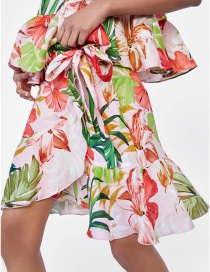 Fashion Multi-color Leaf Pattern Decorated Skirt
