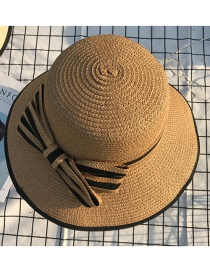 Fashion Brown Bowknot Shape Decorated Hat