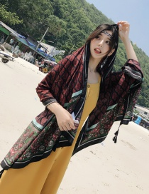 Fashion Black Flower Pattern Decorated Shawl