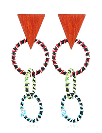 Fashion Multi-color Geometric Shape Decorated Earrings