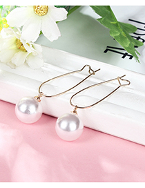 Fashion Gold Color Round Shape Decorated Earrings(1cm)