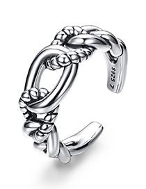 Fashion Silver Color Pure Color Decorated Ring
