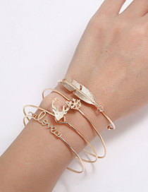 Fashion Gold Color Pure Color Decorated Bracelets(4pcs)