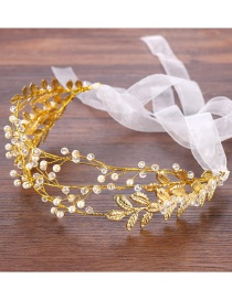 Fashion Gold Color Leaf Shape Decorated Hair Accessories