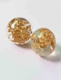 Fashion Gold Color Sequins Decorated Round Shape Earrings