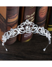Fashion Silver Color Crown Decorated Hollow Out Hair Hoop