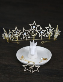Fashion Gold Color Star Shape Decorated Hair Accessories(with Earrings)