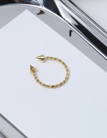 Fashion Gold Color Pure Color Decorated Spiral Ring