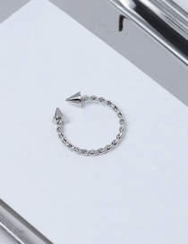 Fashion Silver Color Pure Color Decorated Spiral Ring