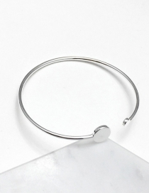 Fashion Silver Color Round Shape Decorated Bracelet