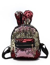 Lovely Red Rabbit Ears Shape Decorated Backpack
