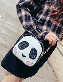 Fashion White+black Panda Shape Decorated Bag