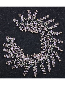 Fashion Pink Full Diamond Decorated Hair Accessories