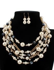 Fashion Beige Multy-layer Decorated Jewelry Sets