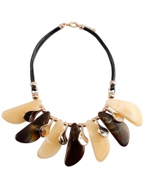 Fashion Khaki Irregular Shape Decorated Necklace