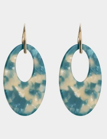 Fashion Blue Hollow Out Design Earrings