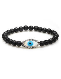 Fashion Black+blue Eye Shape Decorated Bracelet