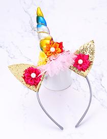 Fashion Multi-color Cat&unicorn Shape Decorated Hair Hoop