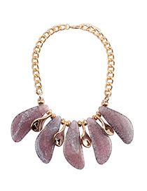 Fashion Pink Color Matching Decorated Necklace