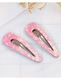 Lovely Pink Pure Color Design Child Hair Clip(1pair)