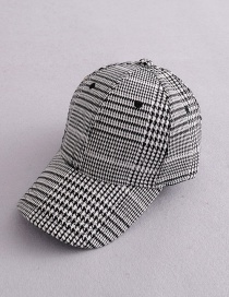 Fashion Black+white Grids Pattern Decorated Hat