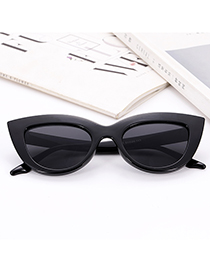 Fashion Black Pure Color Decorated Glasses
