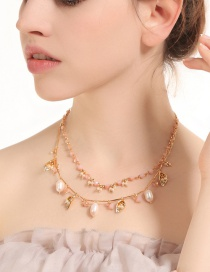 Fashion Gold Color Irregular Shape Decorated Necklace